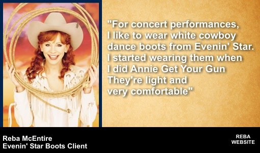 Reba McEntire and Evenin' Star Boots